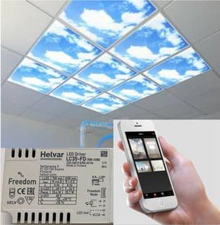 Bluetooth Dimmable LED Sky Panel