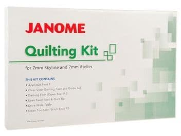 JANOME QUILTING KIT for 7mm Atelier & Skyline models