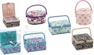 0 5 Assorted sewing boxes