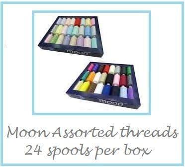 0   630B  Moon Spun Polyester Sewing Thread - 1000m - Darks & Lights Assortment