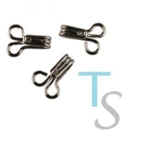 0 A00110 Hook and Eye Fasteners: - Silver/Black- Choice of Size