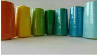 0    C0003 75,  Spun Polyester Overlocking Thread - 5000yrd cones - Full Colour Range (1)