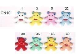 0 CN10 Teddy Buttons 100 Piece Bag