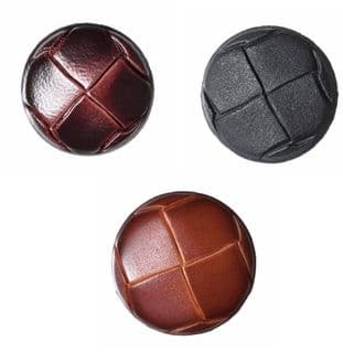 0 G2276  Leather Shank Button - Choice of Size & Colour
