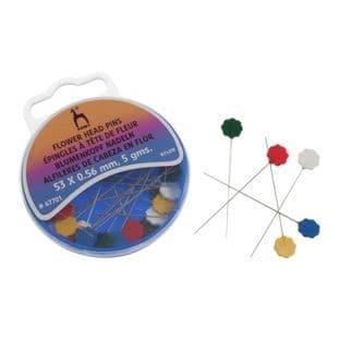 0   P67701 Pins: Flower Head: (Nylon) - 5 grams
