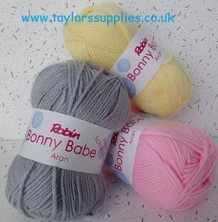 0    Robin Bonny Babe Aran Knitting Yarn - 10 x 100g balls - Full Colour Range
