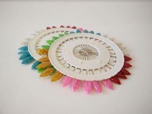 0  SS469 Leaf Head Craft/Hat Pins - 12 Wheels