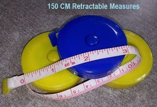 00367 Retractable Tape Measure: Assorted Colours - 12pcs