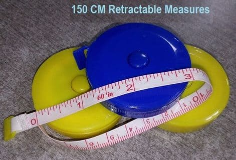 00367 Retractable Tape Measure: Assorted Colours - 12pcs