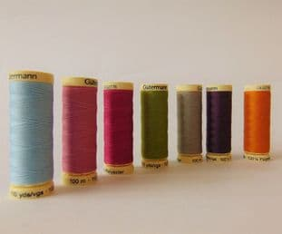 04 100m 2T100 Gutermann Sew-All Thread - Colours 300 - 399