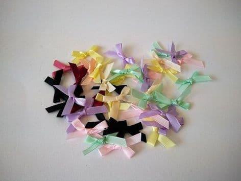 086-06 7mm Ribbon Bows - Full Colour Range