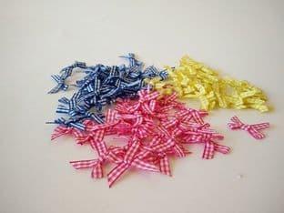 086-06G Gingham Ribbon Bows - Full Colour Range