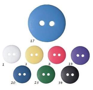 0G3328 Matt Smartie Button - Choice of Size & Colour