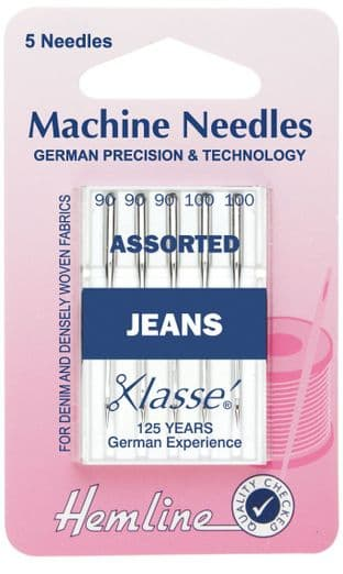 0H103.99 Jeans Machine Needles: Heavy Mixed