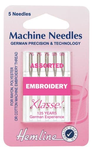 0H108.99 Embroidery Machine Needles: Mixed