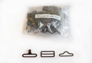 0BTC/50 Bow Tie Clip Set: Loose - 50 sets - Black or Nickel