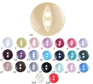 0G0339 Fish Eye Button - 22s 150
