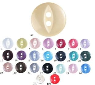 0G0339 Fish Eye Button - 30s 150 pack