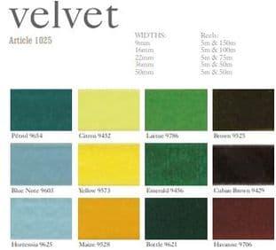 1025 16mm Velvet Ribbon - 5m