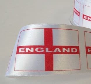 12169 25mm St Georges Cross Flag Ribbon - 20m
