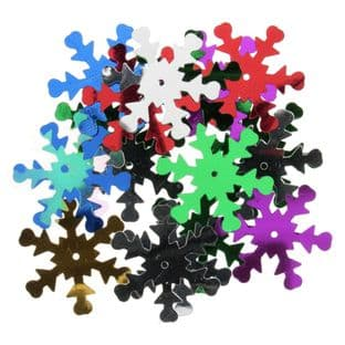 125/ Sequins: Snowflake - Full Colour Range