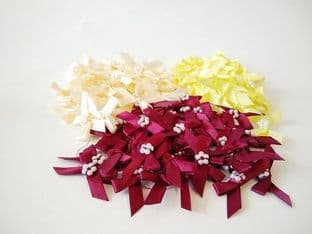 337-06 7mm Ribbon Bows with Pearls