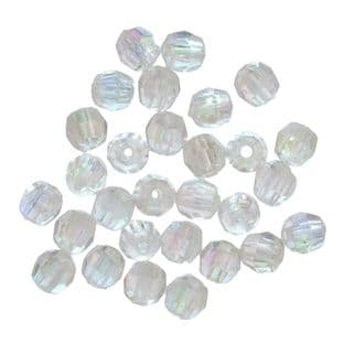 344\13 Faceted Beads: 4mm Aurora: 5 Packs of 45