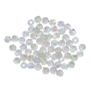 345\13 Faceted Beads: 5mm Aurora: 5 Packs of 25