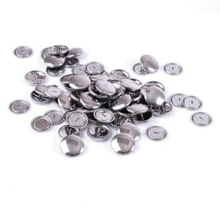 473.15 Self Cover Buttons: Metal Top - 15mm, 100 Sets