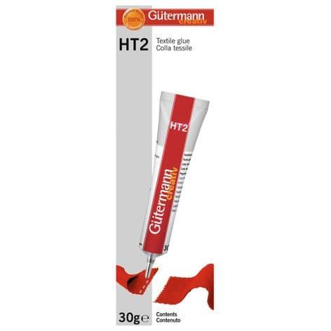 613607 Gütermann HT2 Textile Glue - 30g Tube - Choice of Pack Size