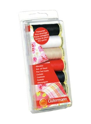 731099\1 Gutermann Thread Set: Sew-All: 7 x 100m: Assorted