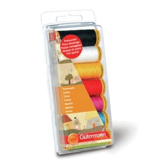 731145\1 Gutermann Thread Set: Cotton 50: 7 x 100m: Assorted