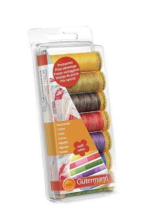 731146\1 Gutermann Thread Set: Natural Cotton Multi-Colour: 7 x 100m: Assorted