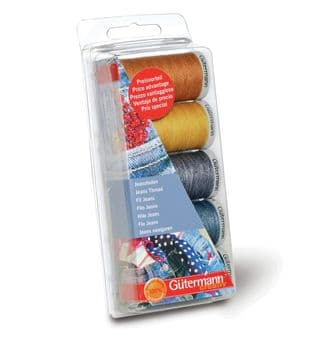 731323\1 Gutermann Thread Set: Jeans: 3 x 100m, 2 x 200m