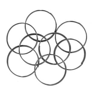 CB083 Memory Wire 2cm Ring: 5 Packs of 8 coils