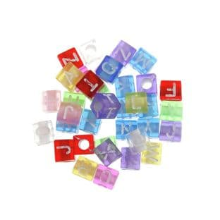 CBAC Beads: Alphabet: Transparent: 100 Pieces (1)