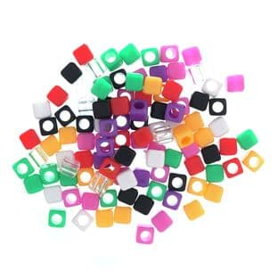 CBSB Square Beads: Assorted: 5 Packs of 100