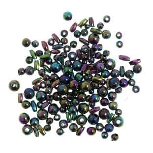 CC05 Creative Crafts Rainbow Beads: 5 Packs of 5