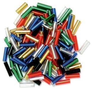 CF01\05 Bugle Beads: 6mm: 5 Packs of 15g - Full Colour Range