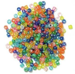 CF01\20 Seed Beads: 2mm: 5 Packs of 15g - Full Colour Range