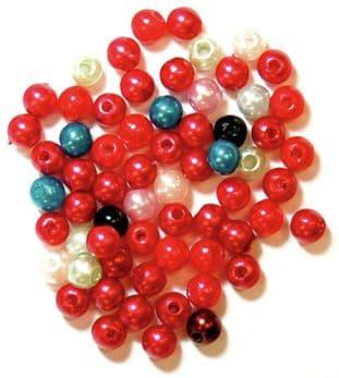 CF01\354 Pearls: 4mm: 5 Packs of 7g - Full Colour Range