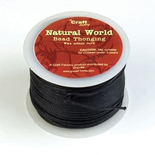 CF1 Waxed Cotton Cord: 50m: 1 Pack of 50m - Full Colour Range