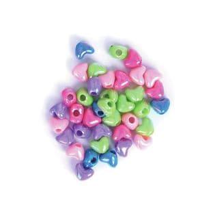 CF183 Heart Beads: 5 Packs of 15g