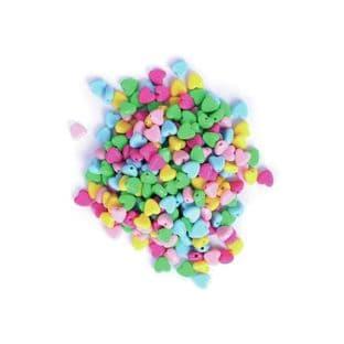 CF186 Hearts Beads: Plastic: 20g