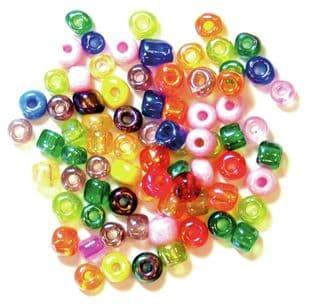 E Beads: 4mm: 5 Packs of 15g - Full Colour Range