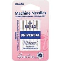 H100.80 Universal Machine Needles: Medium 80/12