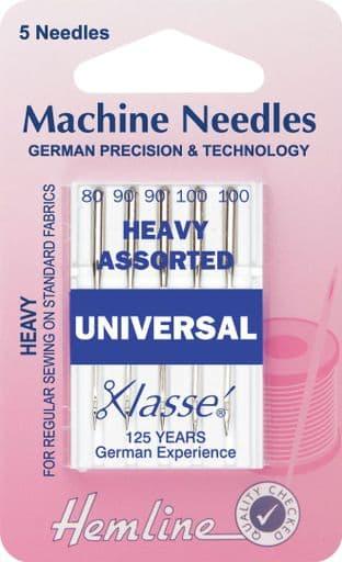 H100.992 Universal Machine Needles: Mixed Heavy