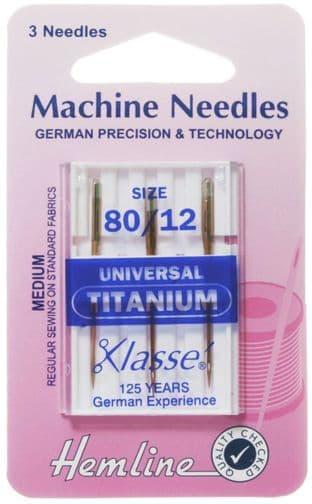 H100.T Universal Machine Needles: Titanium
