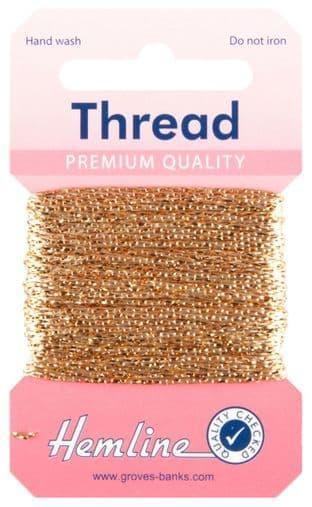 H1002\11 Glitter Thread: 10m - Light Gold