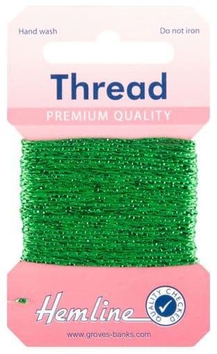 H1002\15 Glitter Thread: 10m - Emerald